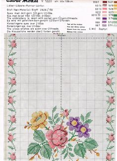 1740 Best cross stitch roses images in 2019 | Cross stitch