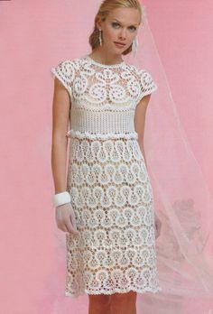 Вязанное свадебное платье из брюггского кружева