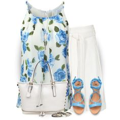 A fashion look from July 2016 featuring chiffon tank top, pleated shorts and zip top tote. Browse and shop related looks. Simple Outfits, Pretty Outfits, Cute Outfits, Work Outfits, Summer Outfits, Unique Fashion, Luxury Fashion, Chiffon Cami Tops, Fashion Outfits