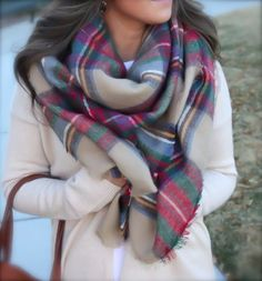 Super soft blanket scarf/cozy scarf/oversized by OllasCreations