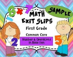 FREEBIE:  Use these quick, formative assessments to identify what students have mastered and where they may need additional support. This sample includes 6 sets of exit slips for 1st grade Common Core Standard:  Number & Operations in Base Ten. They are the perfect progress monitoring tool to guide your instruction!Whats included:- Tips for using exit slips- Counting chart (perfect size for students' desks)- 6 exit slips   (Slips are labeled with the Common Core Standard)- An answer ...