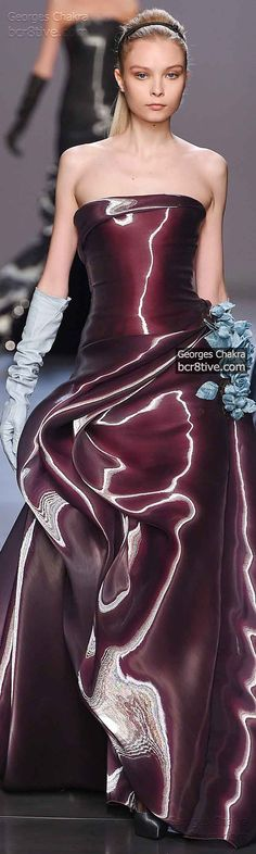 Wet Looks Gleam Georges Chakra Fall Winter 2014-15 Haute Couture Collection