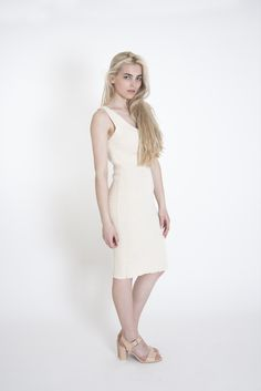 Bodycon Cotton Dress | Vanilla  This #cotton #dress is made from 100% #sustainable cotton threads and lots of #love. With its #minimal #design it can be perfect for a #fashionable smart look or nice #casual outfit. #flawless smart look #ready to wear