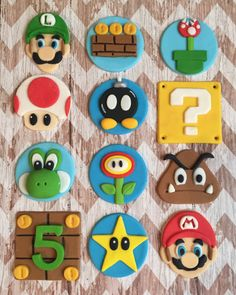 Only place your orders if they are needed after June Fondant edible Paw Patrol cake cupcake topper set paw patrol shields Super Mario Cupcakes, Super Mario Party, Bolo Do Mario, Bolo Super Mario, Super Mario World, Super Mario Bros, Mario Birthday Cake, 2 Birthday, Super Mario Birthday