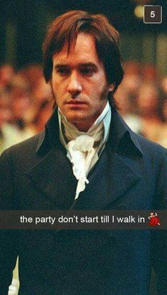 Oooh Mr. Darcy... ♡