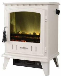 £200 ELECTRIC STOVE WHITE LED LOG 2KW HEAT OUTPUT LOG FIRE WHITE ENAMEL STOVE BURNER | eBay