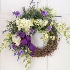 Spring Wreaths-Valentine Wreath-Tulip Wreath-Front Door Wreath-Mother's Day Wreath-Cottage Chic-Wedding Decor-Summer Wreath