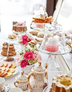 Tea can be served as a buffet for a crowd, or at a small table for two.  Pretty things don't mind, it's entirely up to you!