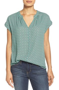 Pleione Split Neck Top (Regular & Petite) (Nordstrom Exclusive) available at #Nordstrom