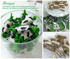 Nougat ! Soft chewy candy with roasted nuts