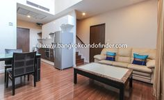 2 Bedroom Condo for Rent at The Trendy Condominium -  To find out more of this rental & other available apartments or condos for rent, go to http://www.bangkokcondofinder.com/?pagename=search-results&price=75000  This 2 bedroom condo for rent at The Trendy Condominium is a two-storey condo in Nana, a few meters from Sukhumvit road and  Nana BTS station. Fully furnished and comfortable, this high rise condominium is 90 square meters wide with two bedrooms, and two bathro
