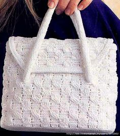 Crochet purse with diagram