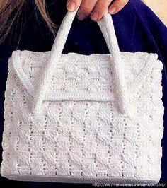 Crochet purse with diagram