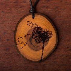 Pusteblume - Ketten Holzschmuck aus Naturholz / Anhänger Wood Burning, Accessories, Jewelry, Ideas, Pyrography, Wood, Pendant, Wood Burning Patterns, Chains