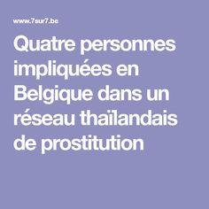Quatre personnes impliquées en Belgique dans un réseau thaïlandais de prostitution Amsterdam, Belgium
