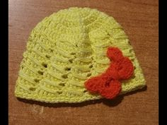 Tutorial cappellino neonato all'uncinetto - crochet baby hat - - YouTube