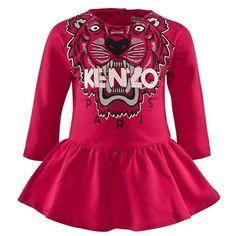 Kenzo Fuchsia Tiger Sweatshirt Dress | AlexandAlexa