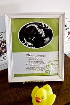 Beautiful way to frame baby Josephine's ultrasound pictures with a poem to remember her precious life.