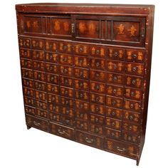 Apothecary Chest | From a unique collection of antique and modern apothecary cabinets at http://www.1stdibs.com/furniture/storage-case-pieces/apothecary-cabinets/
