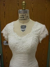 sewcreatelive: How to Add Lace Sleeves and Shoulders to a Strapless Lace and Silk Taffeta Gown