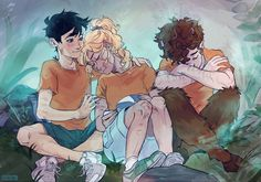 The pjo trio  Percy Jackson annabeth Chase Grover Underwood