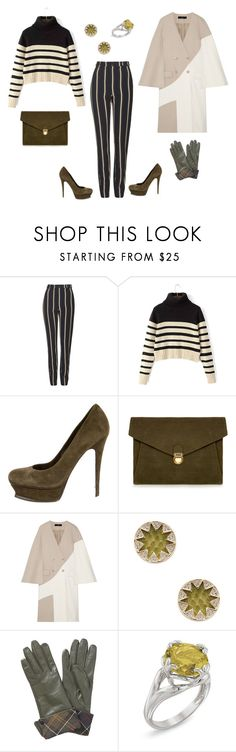 """Stripe Out"" by vrhorne on Polyvore featuring Topshop, Yves Saint Laurent, J.Lindeberg, TIBI, House of Harlow 1960, Barbour, Natures Jewelry, women's clothing, women's fashion and women"