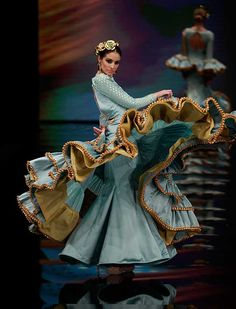 """[gallery link=""""none"""" size=""""full"""" Spanish Fashion, Spanish Style, Flamenco Costume, Flamenco Dresses, Traditional Mexican Dress, Mexican Dresses, Grown Women, Ethnic Dress, Ballet"""