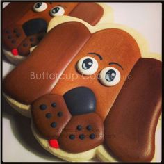 ButtercupCookie.com:  adorable dog cookie. (Made with the Vickie plaque from Whisked Away Cutters)