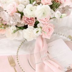 Glass placecards by MEvent weddings. Wedding Table Settings, Camilla, Wedding Styles, Florals, Place Cards, Blush, Table Decorations, Weddings, Prints