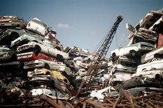 vintage everyday: Scrapyard in Emeryville, California, 1971