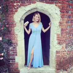 What a beautiful #look <3! Glamorous @littlemissessex rocked our #JarloLondon #Lucia maxi #dress in blue at the #wedding she attended last weekend ~ she simply killed it! Thanks for sharing!