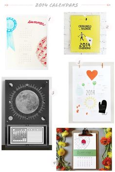 2014 Calendar Round Up, Part 2: Printerette Press, Mr. Boddington's Studio, Pei Design, Wild Ink Press, Hammerpress | Click through for the full links and resources!