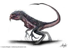 Creature Design by Austen Mengler LordNetsua~ Curious Creatures, Alien Creatures, Fantasy Creatures, Creature Concept Art, Creature Design, Fantasy Races, Fantasy Art, Savage, Creature Picture