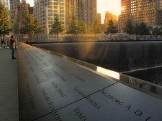9/11 Memorial 'SunSet' (15-18) By LizBallerPhotos
