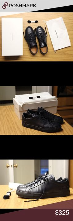 Common Projects Achilles Low Navy Bought a size too big, only worn twice.   Size 41 EU / 8 US.  Taking trades/offers. Common Projects Shoes Sneakers
