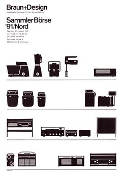 Flyer for a Braun Collectors' fair, organised by Braun+Design magazine and held in Berlin in August 1991. Design by Günter Staeffler.  I'm currently offering a complete run of Braun+Design and Design+Design magazines - a veritable treasure trove for Braun collectors - on the room-606.co.uk website.