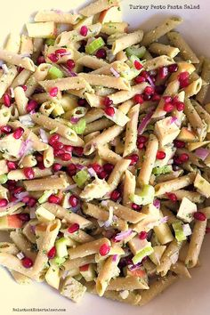 Make this Turkey Pesto Pasta Salad the night before and let the flavors mingle together overnight. Delicious with leftover turkey! Great Recipes, Favorite Recipes, Pesto Pasta Salad, Thanksgiving Recipes, Thanksgiving Leftovers, Cooking Recipes, Healthy Recipes, Side Dish Recipes, Side Dishes