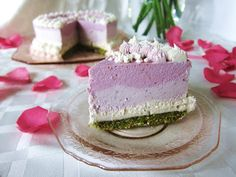 Raw Pretty in Pink Birthday Cheesecake