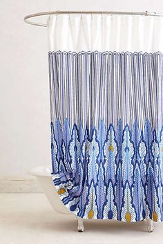 Anthropologie - Peacock Quills Shower Curtain
