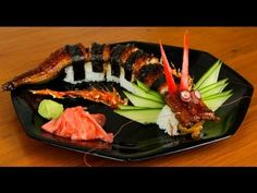 Dragon Sushi Roll Recipe - Japanese Food (delicious) amazing food art