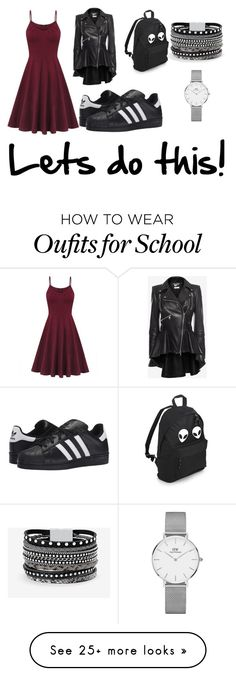 """""""Let's do this"""" by juliacerisano on Polyvore featuring Alexander McQueen, adidas Originals, White House Black Market and Daniel Wellington"""