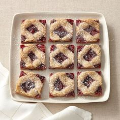 Cherry linzer bars from GoodHousekeeping.com