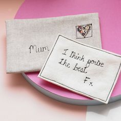 A beautiful linen envelope with personalised secret love note makes a wonderful…