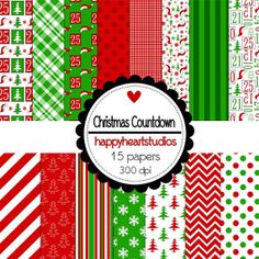 Digital Scrapbooking ChristmasCountdown by azredhead on Etsy, $1.50