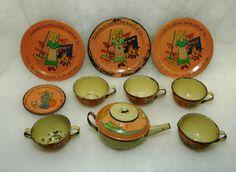 Tin Toy Dishes Ohio Arts Child's Cinderella