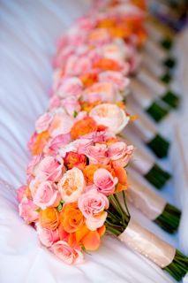 Orange and Coral Bouquet. {Design: TableArt | Photo: Susan Beard Design}