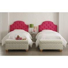 Skyline Furniture Tufted Headboard In Hot Pink