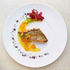 "By @gayleq ""Lemongrass crusted black bass, leek dulse seaweed salad with miso sake cape gooseberry sauce."" #foodphotography #f52grams #food #foodporn #gourmet #instagramfood #chef #foodart #lovefood #artofplating #instafood #yummy #foodpic #photooftheday #instagourmet #dinner #foodvsco #dessert #delicious #taste #foodartchefs #eat #gastronomy #love #foodie #cook #cooking #foodgasm #culinaryart"