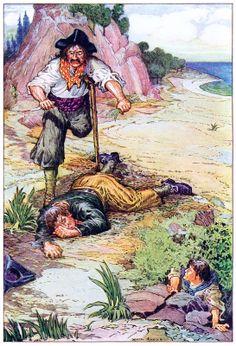 Ilustración de Louis Rhead para La isla del tesoro