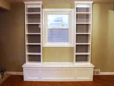 How to Build Window Seat From Wall Cabinets | how-tos | DIY